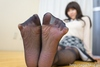Adult charm forest lemon plainclothes students feet & stockings