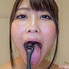 [Tongue fetish spit Fetish: fountain of the erotic long tongue and saliva and mouth odor can enjoy course 2
