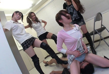 KKK-041-05 knee high boots forced ejaculation following preference!