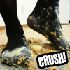 [Food Crush # 33] Yama-chan playing with crushing sweets with legs wrapped in black pantyhose