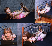 RK21 Rika Roped in Pink Camisole and Fishnet Stockings Part2