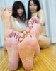 Pressure is amazing! Silva lemon with a housewife and amateur model hamamoto's legs back feast W foot soles photos