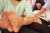 Feet soles tickling professional! Pantyhose foot tore from the tickling as bare feet tickling Asahi Nana series