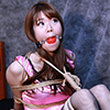 RK20 Rika Roped in Pink Camisole and Fishnet Stockings Part1