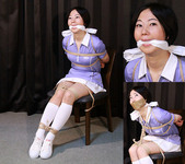 AD17 Nanako Chair Tied in Tennis Outfit Part1