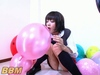 ★ super slow ★ girl 'fancy balloon' inflating masturbation